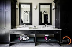Black Bathroom Cabinet Large Medicine Cabinets Bathroom Transitional With Black And White