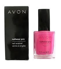 avon nailwear pro nail enamel viva pink fuschia pink nail