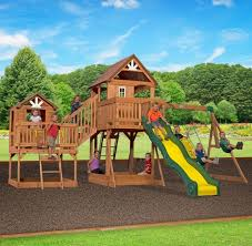 swing sets for backyard children kids outdoor wood play set house