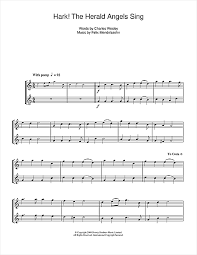 hark the herald angels sing sheet music by christmas carol