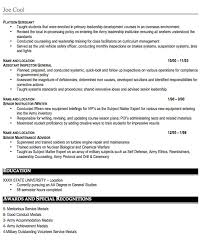 Military Resume Examples by Military Resume Sample Free Resume Template Professional