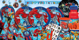 transformer party supplies transformer birthday party theme liviroom decors