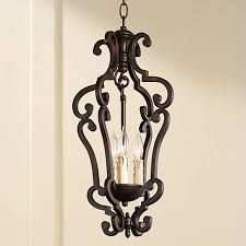 Colonial Chandelier Richmond Colonial Umber Finish 3 Light Pendant Chandelier 07748