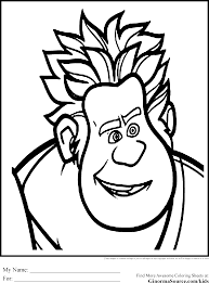 wreck it ralph coloring pages coloring pages pinterest