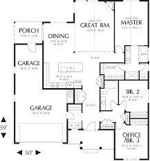 One Story House Plan House Plans One Story 1800 Sq Ft House Plans Tiny House Plans Ranch