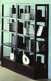 Home Office Bookcase Finish Contemporary Home Office W Desk U0026 Bookcases