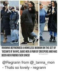rihanna befriendedahomeless woman on the setof ocean s 8 in nyc