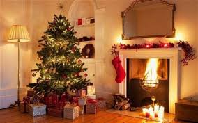 Christmas Livingroom by Christmas Decorations Stockings Candles And Bunting Ideas
