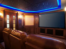 interior home theater room ideas with tv unit on the wall with