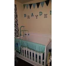 Zig Zag Crib Bedding Set Pam Grace Creations Zigzag Elephant 10 Piece Crib Bedding Set