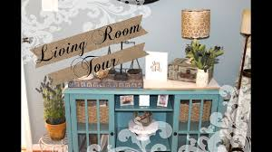 living room tour farmhouse rustic style youtube