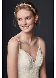 flower hair accessories delicate and pearl flower hair accessory david s bridal