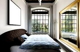 Schlafzimmer Spiegel Industrie Chic Fenster In Kombination Mit Dem Goldenen Spiegel