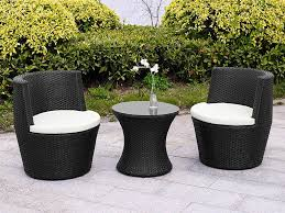 Patio Coffee Table Set by Black Rattan Stacking Garden Furniture 3 Piece Vase Set Patio