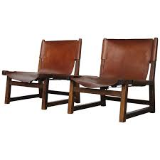 Swedish Leather Recliner Chairs Pair Of Beautiful Tanned Leather Swedish Oak Hunting Chairs At 1stdibs