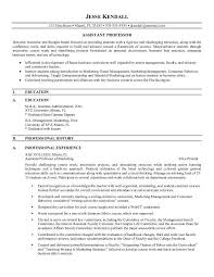 Instructor Resume Samples Professor Resume Hitecauto Us