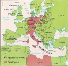 1939 Europe Map by War In Europe And North Africa