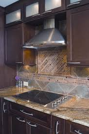 Kitchen Mosaic Tile Backsplash Ideas Kitchen Style Dark Brown Wooden Kitchen Design Newport Design