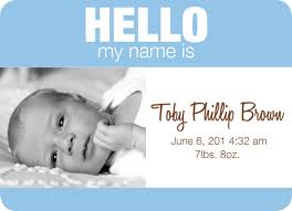 birth announcements baby name tag boy version 2 at minted com
