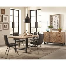 Rustic Dining Room Group With Four Retro Chairs By Scott Living