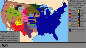 Map Of Native American Tribes The Loss Of Native American Lands Within The Us Every Year Youtube