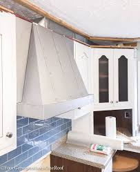 our kitchen renovation series installing hood vent four
