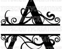 Letter Monogram Monogram Fonts Etsy