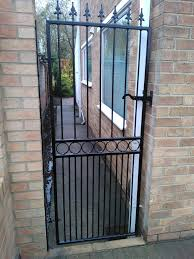 wrought iron single gates google search gate pinterest