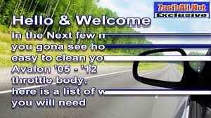 lexus es300 idle relearn how to clean toyota avalon throttle body تنظيف الثروتل تويوتا