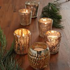 mercury tea light holders gold mercury votives west elm