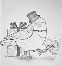 Sketch Birthday Card Parrot Birthday Card Sketch Pencil Sketch Of My Concept Fo Flickr