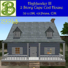 cape cod front porch second life marketplace cape cod house with front porch 2nd