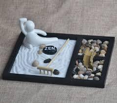zen sand garden for desk stone gift wooden craft zen sand garden ceramic figurine home