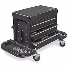 uline rolling tool cabinet uline mechanic s rolling tool chest seat black foam padded tool