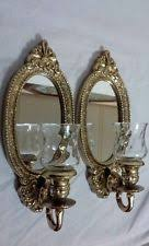 home interiors votive cups vintage homco home interiors wall mirror and candle votive sconces