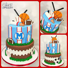 sport themed baby shower baby shower cakes