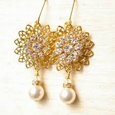 gold earrings for marriage earrings gold for wedding