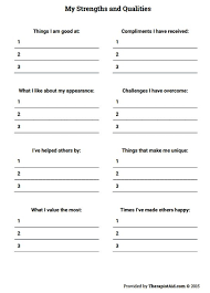 my strengths and qualities preview mental health pinterest