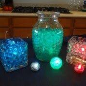 Water Bead Centerpieces by Medium Centerpiece 3 Cylinder Vases One With Clear Water Beads