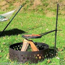 fire pit cooking grate 18 outdoor adjustable barbeque bbq firepit cooking campfire