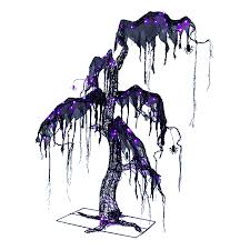 shop holiday living 5 2 ft spooky halloween tree with led multi