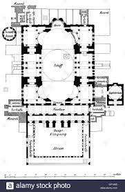 19th Century Floor Plans by Architecture Ground Plans Hagia Sophia Istanbul Built 532