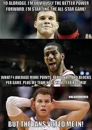 Blake Griffin Memes - nba meme team on twitter all star logic lamarcus aldridge vs