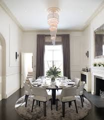 expandable round dining table look london traditional dining room