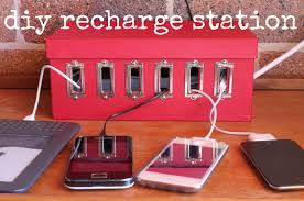 make a device charging station u2013 dollar store crafts