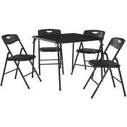 5 piece card table set cosco 5 piece folding table and chair set multiple colors walmart com