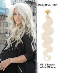 white hair extensions 16 613 white wave nail tip u tip 100 remy