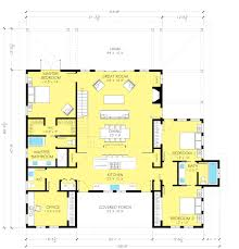 barn house plan with stair to loft by architect nicholas lee