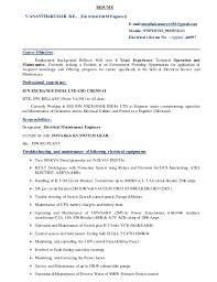 Currently Working Resume Sample Download Electrical Test Engineer Sample Resume