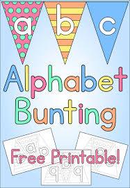 alphabet bunting kids craft free printable mama geek